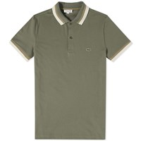Lacoste Tipped Polo Green