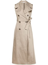 Tome Sleeveless Trench Coat Nude And Neutrals