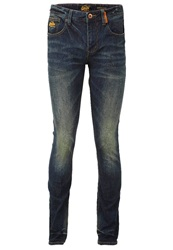 Superdry Corporal Slim Fit Jeans Weighted Rinse Bleached Denim