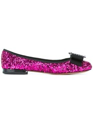 Marc Jacobs Interlock Round Toe Ballerina Flats Black