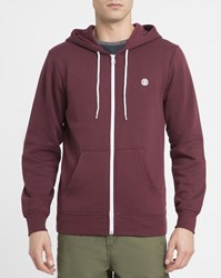 Element Burgundy Nova Logo Zipped Hoody