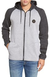 Men's Hurley 'Phantom Apex' Colorblock Full Zip Fleece Hoodie