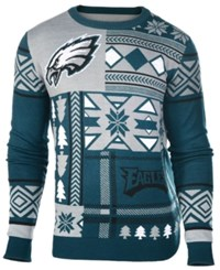 Forever Collectibles Men's Philadelphia Eagles Patches Christmas Sweater Green