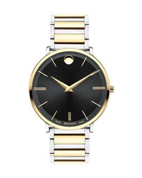 Movado Men's Ultra Slim Two Tone Watch Gold