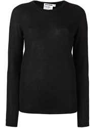 Jil Sander Crew Neck Jumper Black
