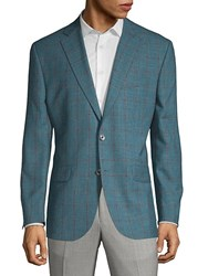 Jack Victor Conway Buttoned Sportcoat Teal