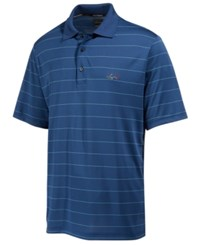 Greg Norman For Tasso Elba Men's Big And Tall 5 Iron Classic Striped Performance Polo Only At Macy's Blue Socket