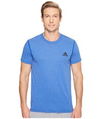 Adidas Ultimate Crew Short Sleeve Tee Collegiate Royal Heather Men's T Shirt Blue