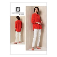 Vogue Women's Pullover Tunic Top And Trousers Sewing Pattern 1509