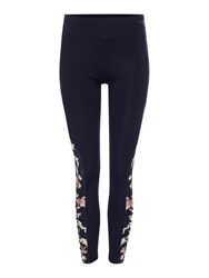 Ted Baker Harmony Floral Ruched Sports Leggings Blue