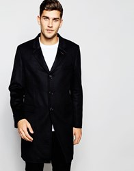 Ted Baker Cashmere Wool Mix Overcoat Navy