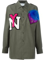 Forte Couture 'Yankee' Shirt Green