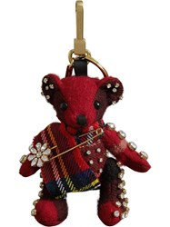 Burberry Thomas Bear Charm With Kilt Pin Red