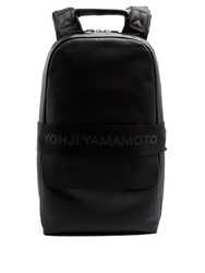 Y 3 Qasa Large Leather Backpack Black