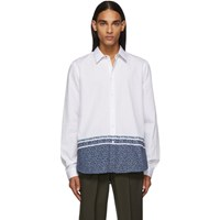 Paul Smith Ps By White Floral Tailored Shirt