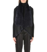 Karl Donoghue Waterfall Reversible Shearling Gilet Eclipse