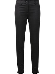 Fabiana Filippi Skinny Cropped Tailored Trousers Grey