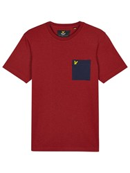 Lyle And Scott Ottoman Patch Pocket Crew Neck T Shirt Red
