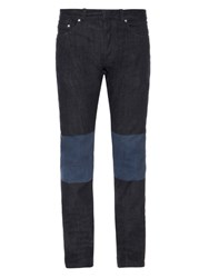 Balenciaga Bi Colour Denim Skinny Jeans Navy Multi
