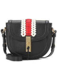 Altuzarra Ghianda Saddle Mini Leather Shoulder Bag Black