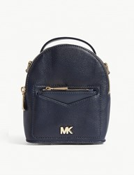 Michael Michael Kors Jessa Extra Small Leather Cross Body Backpack Admiral