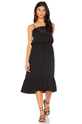 Auguste Victorian Slip Midi Dress Black