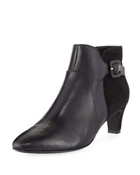Cole Haan Sylvia Grand Waterproof Leather Suede Booties Black