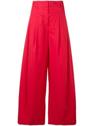 Andrea Ya'aqov Wide Leg Trousers Red