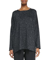Eskandar A Line Bateau Neck Sweater Black