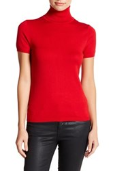 Philosophy Dane Lewis Short Sleeve Turtleneck Shirt Petite Red