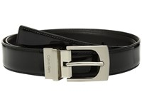 Calvin Klein Reversible Patent Leather To Smooth Belt Black Women's Belts