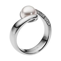 Skagen Classic Pearl Silver Stainless Steel Ring