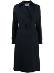 Harris Wharf London Double Breasted Trench Coat 60