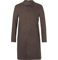 Kingsman Mackintosh Bonded Cotton Raincoat Brown