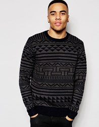 D Struct Noak Patterned Sweater Black