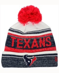 New Era Houston Texans Snow Dayz Knit Hat A Macy's Exclusive Style Navy White Red