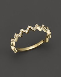 Bloomingdale's Diamond Zig Zag Ring In 14K Yellow Gold .10 Ct. T.W.