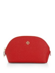 Tory Burch York Small Cosmetic Case Red Orange