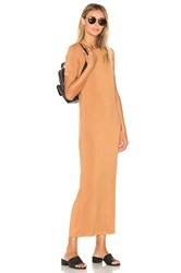 Blq Basiq Tee Maxi Dress Tan