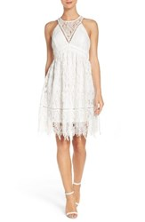 Chelsea 28 Women's Chelsea28 Lace Fit And Flare Dress White