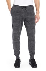 Zella Tech Sweater Knit Jogger Pants Black Oxide Spacedye