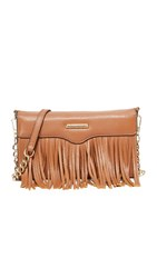 Rebecca Minkoff Fringe Tech Cross Body Bag Almond