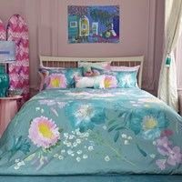 Bluebellgray Kippen Duvet Set Green