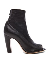 Maison Martin Margiela Maison Margiela Stretch Leather Open Toe Booties In Black