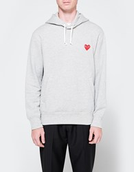 Comme Des Garcons Play Hooded Sweatshirt In Grey