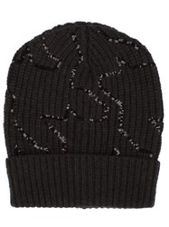 Brunello Cucinelli Sequinned Beanie Black