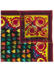 Versace Multiple Print Scarf Red