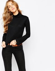 Pull And Bear Pullandbear Rib Roll Neck Jumper Black
