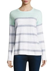 Vineyard Vines Colorblock Striped Cotton Sweater Crystal Blue