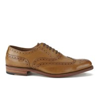 Grenson Men's Dylan Leather Wingtip Brogues Tan
